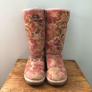 Ugg Classic Tall Romantic Flower Boots